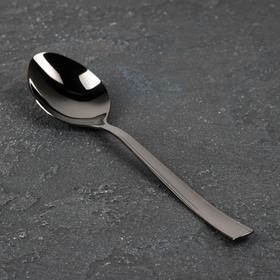 Ложка столовая «Торжество», h=19,2 см, толщина 2 мм, цвет графит