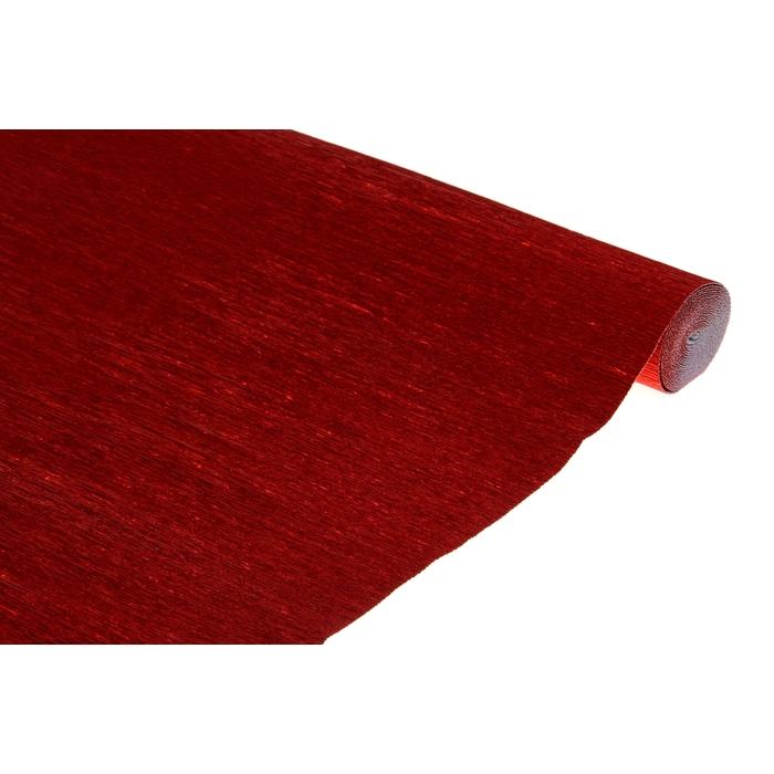 Креп для цветов фольгированный, цвет красный 50 см х 2,5 м