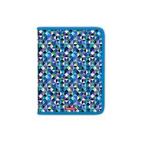 Папка для тетрадей и труда, 1 отделение, А4, ErichKrause Cubes, пластик, на молнии