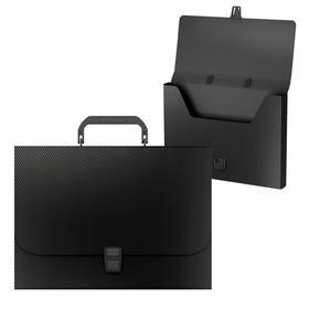 Папка-портфель 1 отделение ErichKrause Diamond Original, A4, 325 х 230 х 35 мм,700 мкм, черная