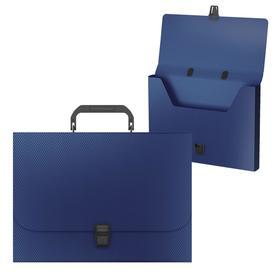 Папка-портфель 1 отделение ErichKrause Diamond Original, A4, 325 х 230 х 35 мм,700 мкм, синяя