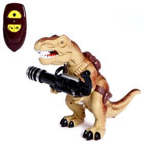 Динозавр радиоуправляемый T-Rex, стреляет ракетами, работает от батареек, МИКС