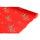 креп для цветов простой  с рисунком Новый год 50 см*2,5 м 700/4