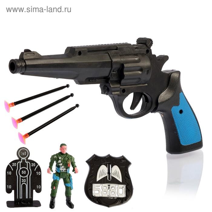 """Набор """"Крутые пушки"""", 7 предметов, стреляет присосками"""