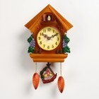 "Wall clock, series: Pendulum, with the Bunny ""grapevine"", 28х19 cm"