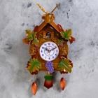 """Часы настенные с мишкой """"Белочки вокруг домика 40*21 см пластик"""