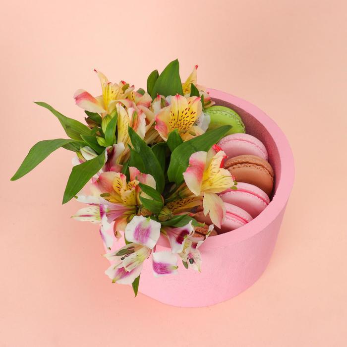 """Пенобокс 16×16×10 см кашпо для цветов и подарков """"Круг"""", розовый - фото 858519"""