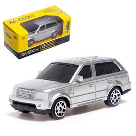 Машина металлическая Range Rover Sport, масштаб 1:64, цвет серебро