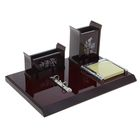 Набор настольный «Бамбук»: подставка для ручек, визитница, блок для бумаги, держатель для календаря