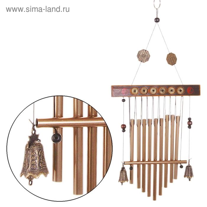 "Музыка ветра ""Монеты"" 10 трубочек, 2 колокольчика"