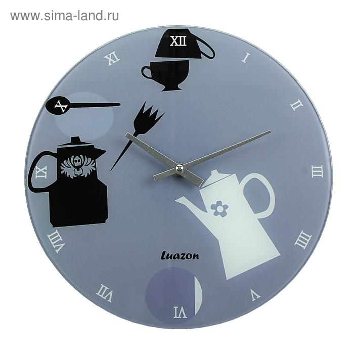 """Часы настенные из стекла """"Столовые приборы"""""""