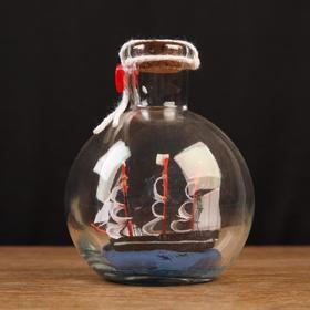 Корабль сувенирный, в бутылке, вертикальн. 11*8см