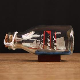 Корабль сувенирный, в бутылке, горизонт. 11*5*6см