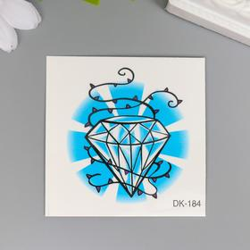"""Tattoo on the body color """"Diamond and spikes"""" 6x6 cm"""