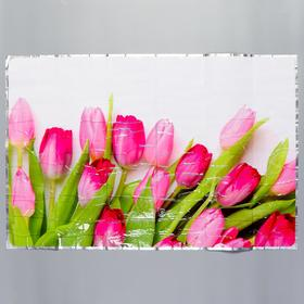 """Sticker on the tile """"Pink tulips"""" 60x90 cm"""