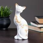 """Фигура """"Кошка ушастая"""" 7 × 7,5 × 20 см 088 белая"""