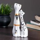 """Фигура """"Love Коты"""" малые набор 2шт белые 5 × 4 × 15 см 040"""