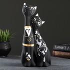 """Фигура """"Love Коты"""" большие набор 2шт черные 7 × 9 × 24 см 039"""