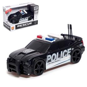 """Машина инерционная """"Полиция"""", свет и звук, 1:20"""