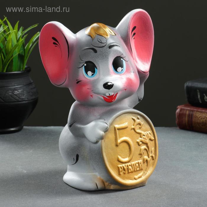 """Копилка """"Мышь с пятаком"""""""