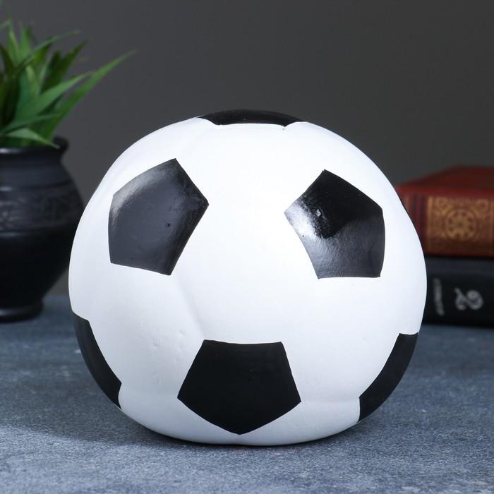 """Копилка """"Мяч"""" белый 15см 053"""