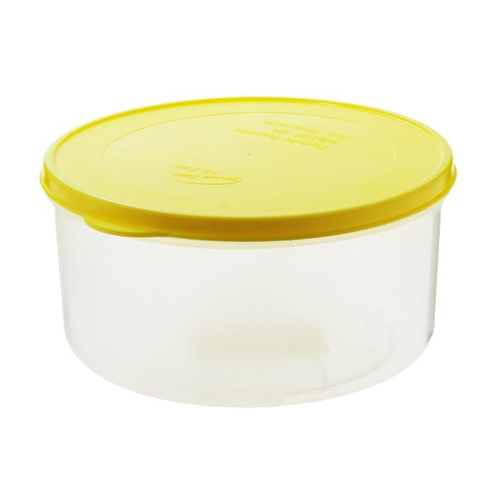 Контейнер пищевой 1 л круглый Bio, цвет МИКС