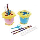 """Настольный набор детский """"Сова"""" из 5 предметов: подставка, ножницы, линейка, 2 карандаша, МИКС"""