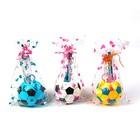 Набор настольный, детский, «Футбольный мяч» из 5 предметов: 2 карандаша, линейка, ножницы, подставка, МИКС