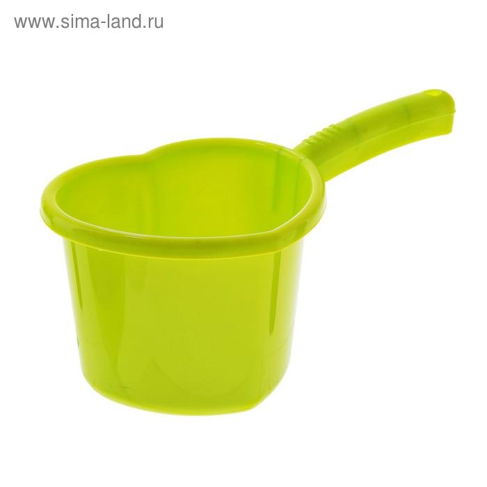 """Ковш 1,5 л """"Сердечко"""", цвет лайм"""