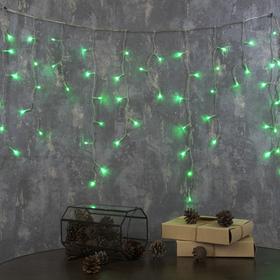 """Гирлянда """"Бахрома"""" Ш:1,2 м, В:0,6 м, Н.С. LED-60-220V, контр. 8 р. ЗЕЛЕНЫЙ"""