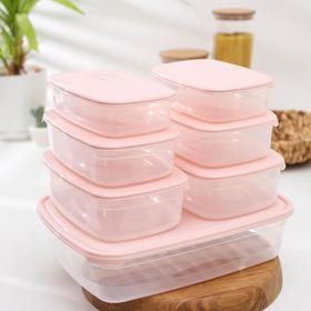 Набор пищевых контейнеров Galaxy, 7 шт: 750 мл; 1,2 л; 1,6 л; 4,75 л, цвет МИКС