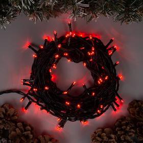 """Гирлянда """"Нить"""" 10 м , IP44, тёмная нить, 100 LED, свечение красное, 8 режимов, 220 В в Донецке"""