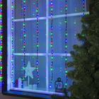 """Гирлянда """"Водопад"""" уличная, 2 х 1.5 м, LED-400-220V, 8 режимов, нить тёмная, свечение мульти"""