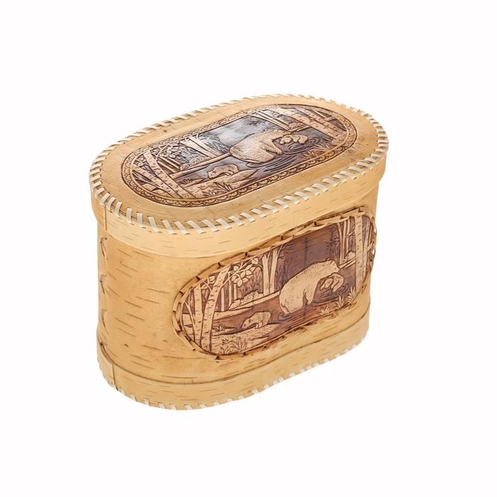 Хлебница «Медведи», 23х14х18 см