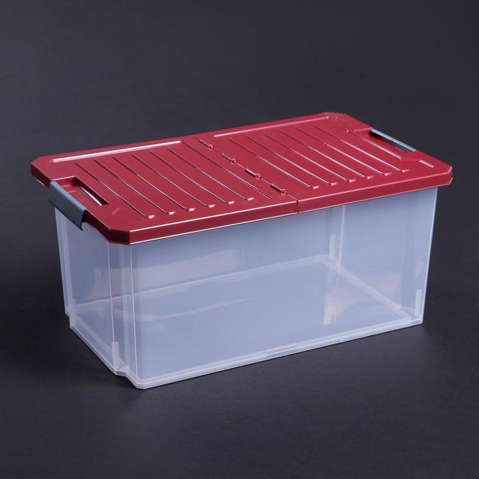"""Контейнер для хранения прямоугольный со складной крышкой 12 л """"Unibox"""", цвет МИКС"""