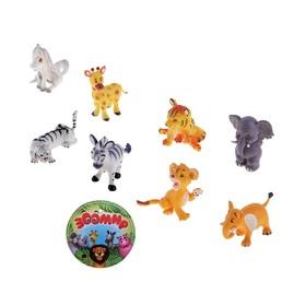 Набор животных «Маленькая африка», 8 штук