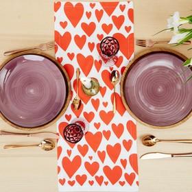 "{{photo.Alt || photo.Description || 'Дорожка на стол ""Этель"" Red hearts 30х70см, 100% хл, саржа 190 г/м2'}}"