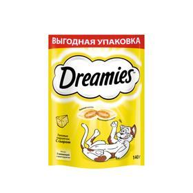 Лакомство Dreamies для кошек, сыр, 140 г
