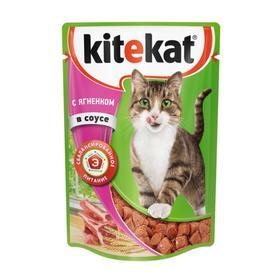 Влажный корм Kitekat для кошек, ягнёнок, 85 г