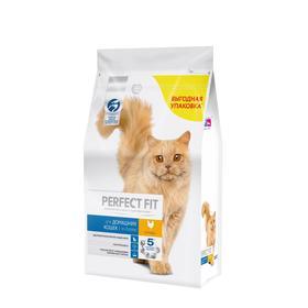 Сухой корм Perfect Fit для домашних кошек, курица, 2,5 кг