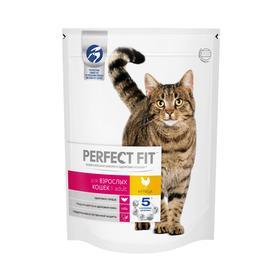 Сухой корм Perfect Fit для кошек, говядина, 650 г