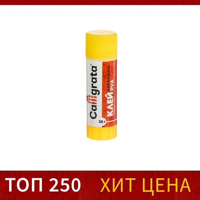 Клей-карандаш 36гр (красный корп)