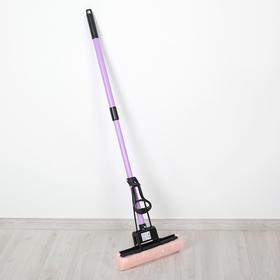 Швабра PVA с роликовым отжимом, телескопическая ручка 78-110 см Ош