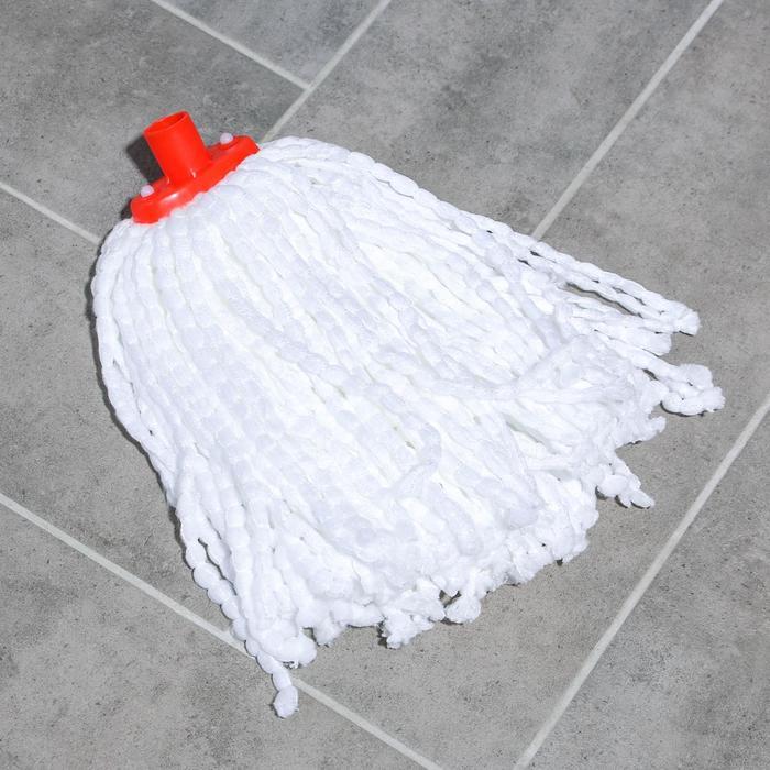 Насадка для швабры веревочная, микрофибра, 100 гр, цвет белый