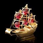 Сувенир «Корабль», 10х3х8 см, с кристаллами Сваровски