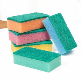 """Набор губок бытовых с чистящим слоем 7.5×4.5×2.5 см """"Мини"""", 5 шт"""