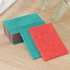 Набор губок-салфеток бытовых PRIDE «Эффект», 10 шт, цвет МИКС - фото 4645967