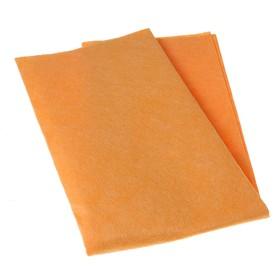 """Салфетка бытовая для пола 50×60 см """"Универсальная"""", вискоза, цвет оранжевый"""