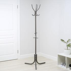 Вешалка напольная (НВК/С), 60×60×180 см, цвет тёмно-серый
