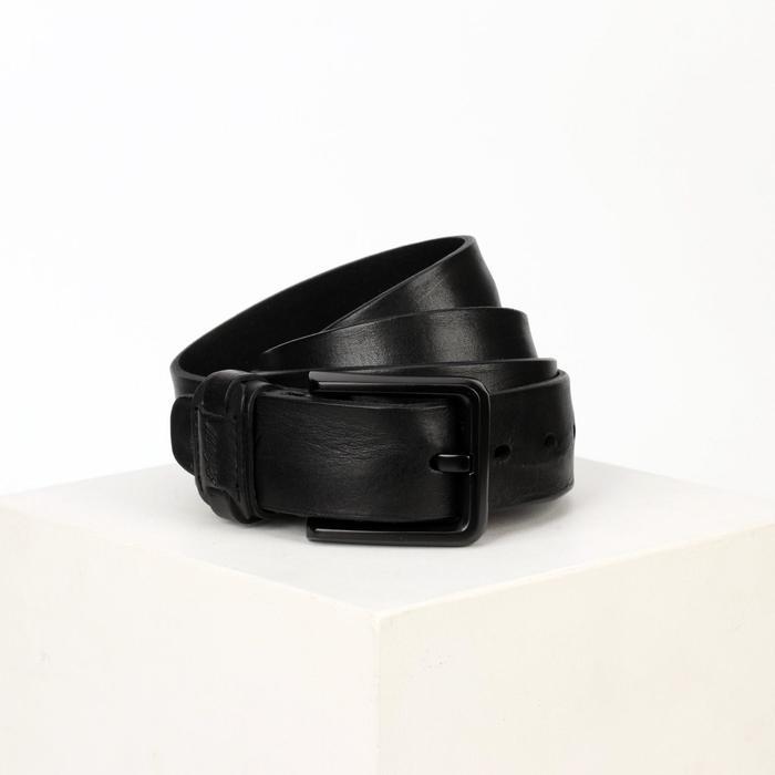 Ремень женский, ширина 4 см, винт, пряжка металл, цвет чёрный - фото 774220